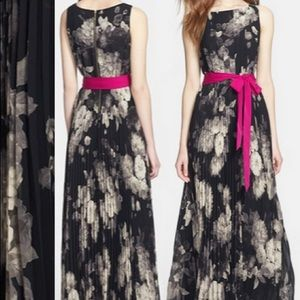 Eliza J black white chiffon maxi dress 12